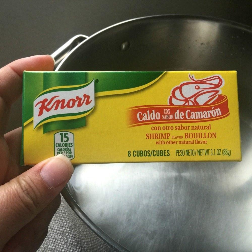 Knorr caldo con Sabor de Camarón