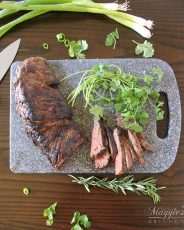 Rosemary Jalapeno Steak - so flavorful and delicious. Thinly sliced pieces of this steak will melt in your mouth. - Mama Maggie's Kitchen