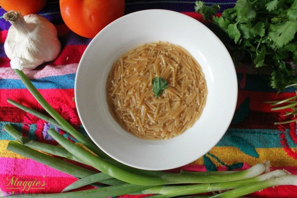 Sopa de Fideo - yummy, easy-to-make, authentic Mexican food - Mama Maggie's Kitchen