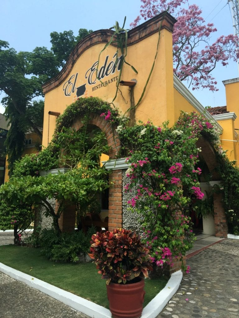 Entrance at El Eden Restaurant in beautiful Tabasco, Mexico