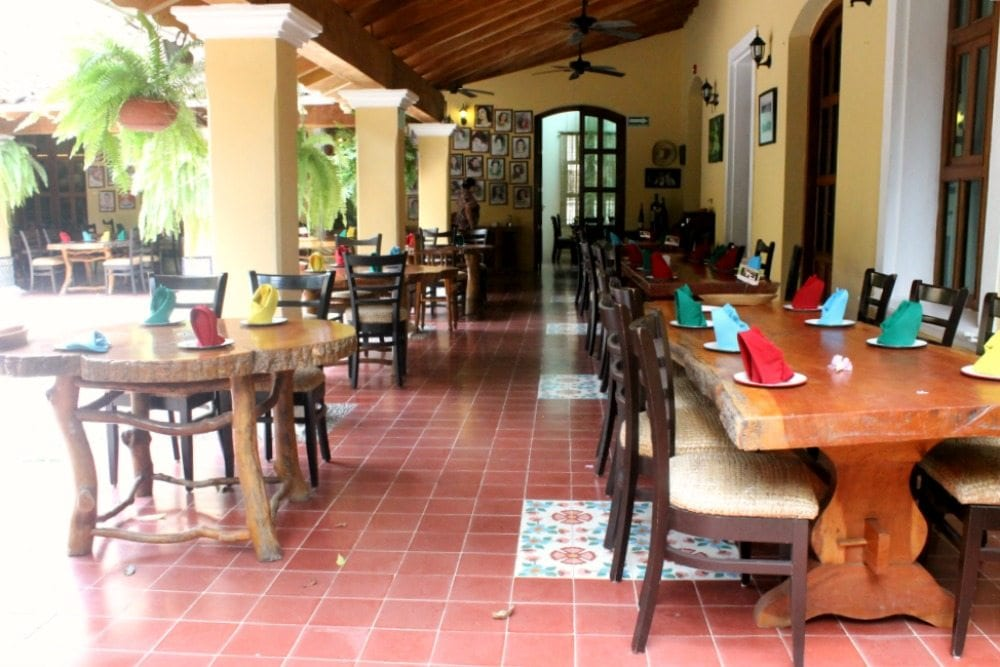 Tables at El Eden Restaurant
