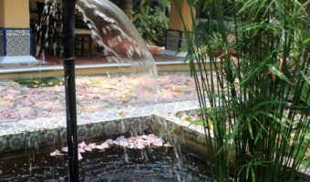 Fountain at El Eden - a beautiful restaurant in Villahermosa, Tabasco