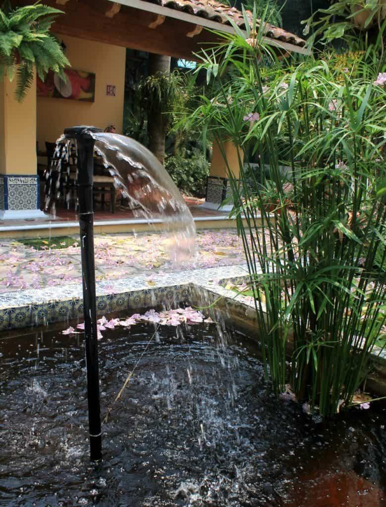 Fountain at El Eden - a beautiful restaurant in Villahermosa, Tabasco