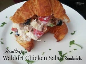 Healthy Waldorf Chicken Salad Sandwich - delicious and half the calories - by Mama Maggie's Kitchen