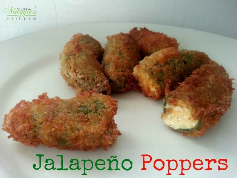 Jalapeño Poppers Served in a Plate