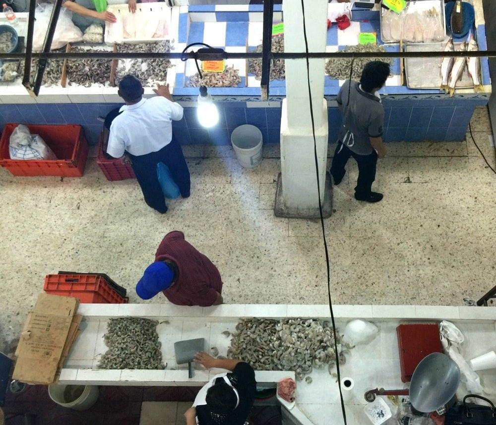 Fish section at the Mercado Pino Suarez in Tabasco, Mexico