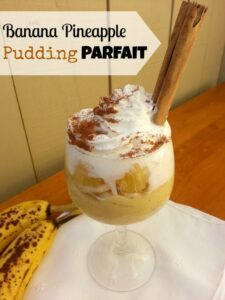 Banana Pineapple Pudding Parfait