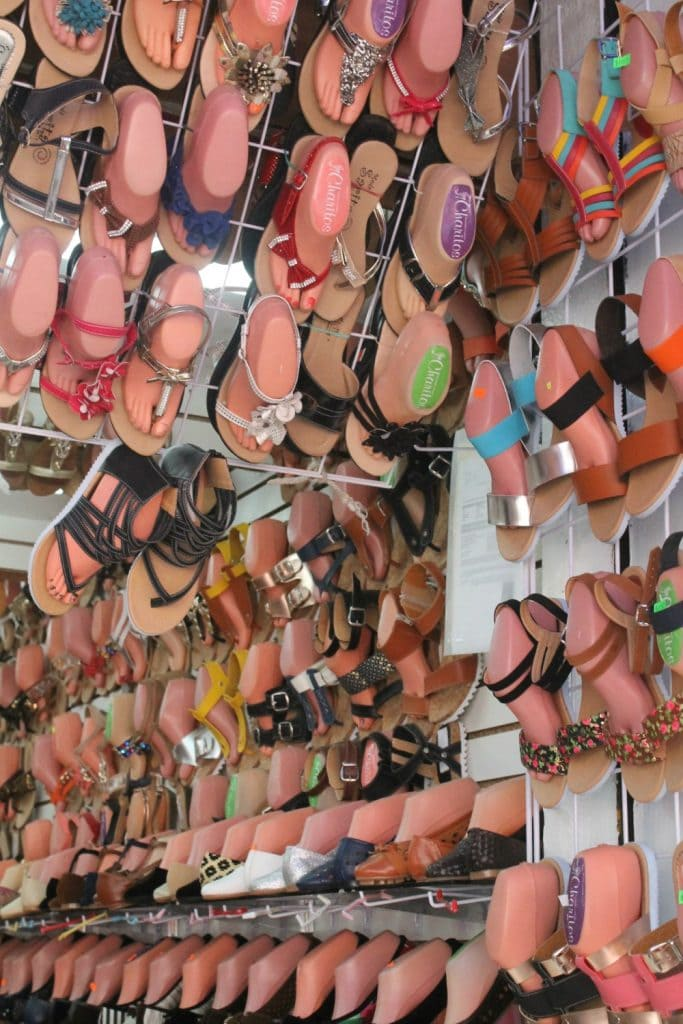 Shoes at the Mercado in Southern Mexico - Mama Maggie's Kitchen