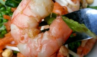 Asian Shrimp Salad - yummy and light, this salad is perfect for summer. by Mama Maggie's Kitchen