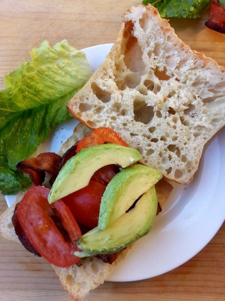 Assembling BLTA Sandwich - by Mama Maggie's Kitchen
