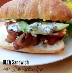 BLTA Sandwich with Herb Garlic Mayo - a yummy lunch recipe that everyone will love - by Mama Maggie's Kitchen