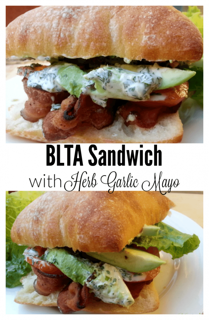 BLTA with Herb Garlic Mayo, Bacon Lettuce Tomato and Avocado - a yummy lunch that everyone will love - by Mama Maggie's Kitchen