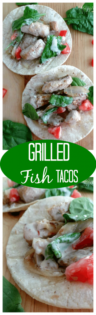 Grilled Fish Tacos - Healthy, full of amazing Mexican flavors, and so delicious - by Mama Maggie's Kitchen