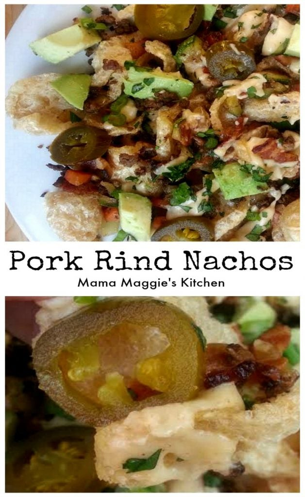 Pork Rind Nachos with Spicy Cheese Sauce