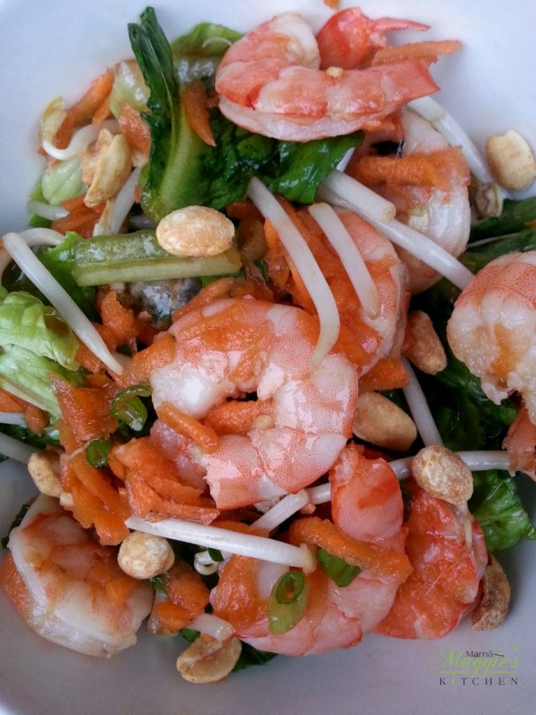 Asian Shrimp Salad - Light and yummy, this salad is perfect for warm summer nights. by Mama Maggie's Kitchen