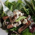 Steak Salad with Low Calorie Blue Cheese Dressing - by Mama Maggie's Kitchen