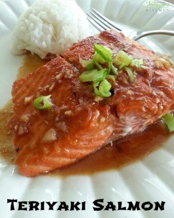 Healthy Food for Kids: Teriyaki Salmon - full of delicious sweet and savory flavors and loved by my son - by Mama Maggie's Kitchen