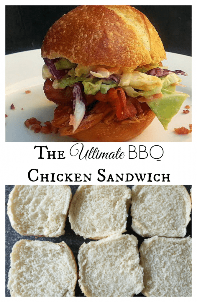 The Ultimate BBQ Chicken Sandwich Collage