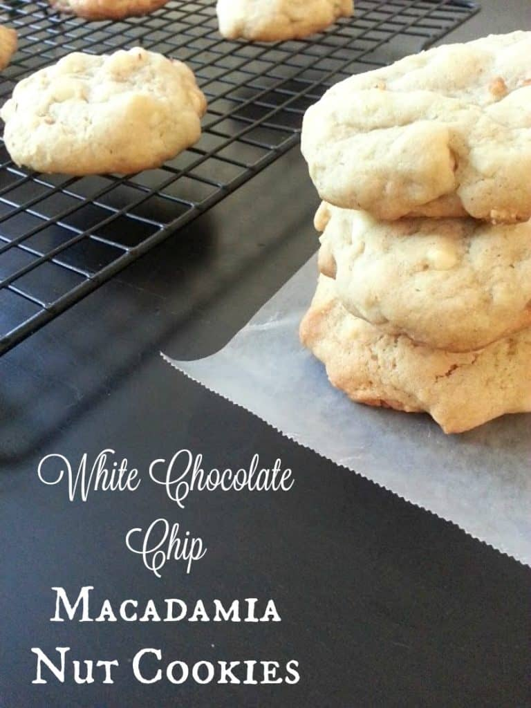 White Chocolate Chip Macadamia Nut Cookies - soft, sweet, and delicious - by Mama Maggie's Kitchen