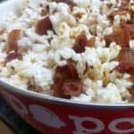 Bacon Popcorn - sweet and spice and everything nice. This recipe is a keeper for any foodie or bacon lover. Enjoy! - by Mama Maggie's Kitchen