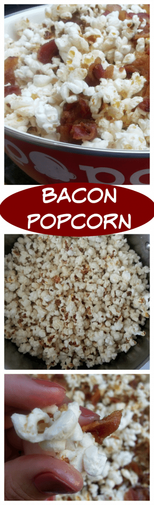 Bacon Popcorn - sweet and spice and everything nice. This recipe is a ...