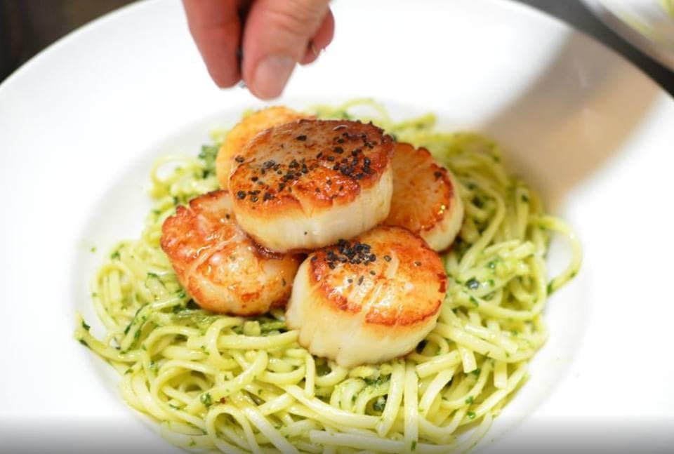 Spaghetti and Scallops