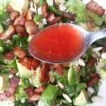 Strawberry Shallot Vinaigrette - made from a defrosted popsicle and better than any sweet and savory salad dressing at the grocery store - by Mama Maggie's Kitchen