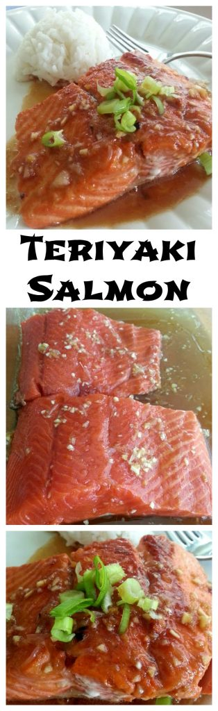 Teriyaki Salmon Photo Collage