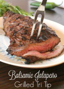 Balsamic Jalapeño Grilled Tri Tip