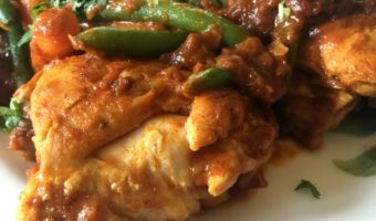 Braised Chicken Thighs in Spicy Tomato Sauce - a delicious dinner that your entire family will love - by Mama Maggie's Kitchen