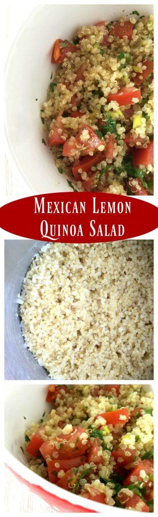 Mexican Quinoa Salad Photo Collage