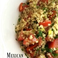 Mexican Quinoa Salad - A healthy and delicious dish for summer. It's light and full of yummy, spicy Mexican flavors. - by Mama Maggie's Kitchen