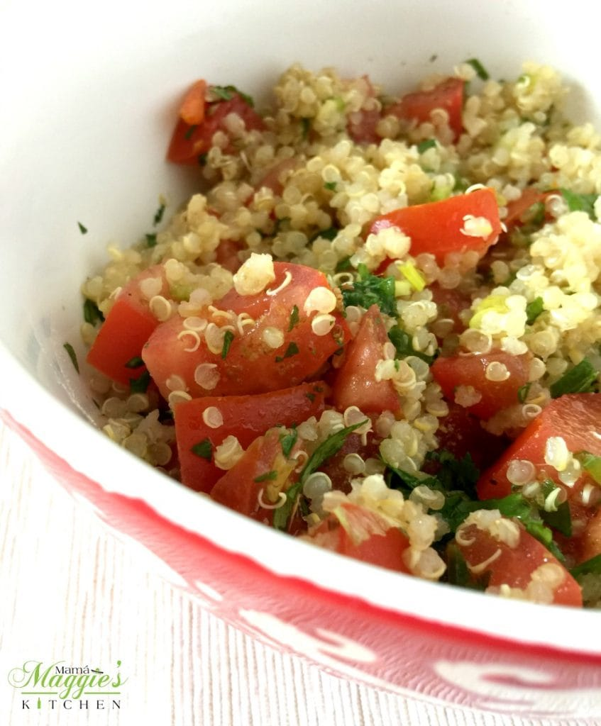 Mexican Quinoa Salad served in a bowl