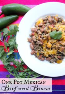 One Pot Mexican Beef and Beans