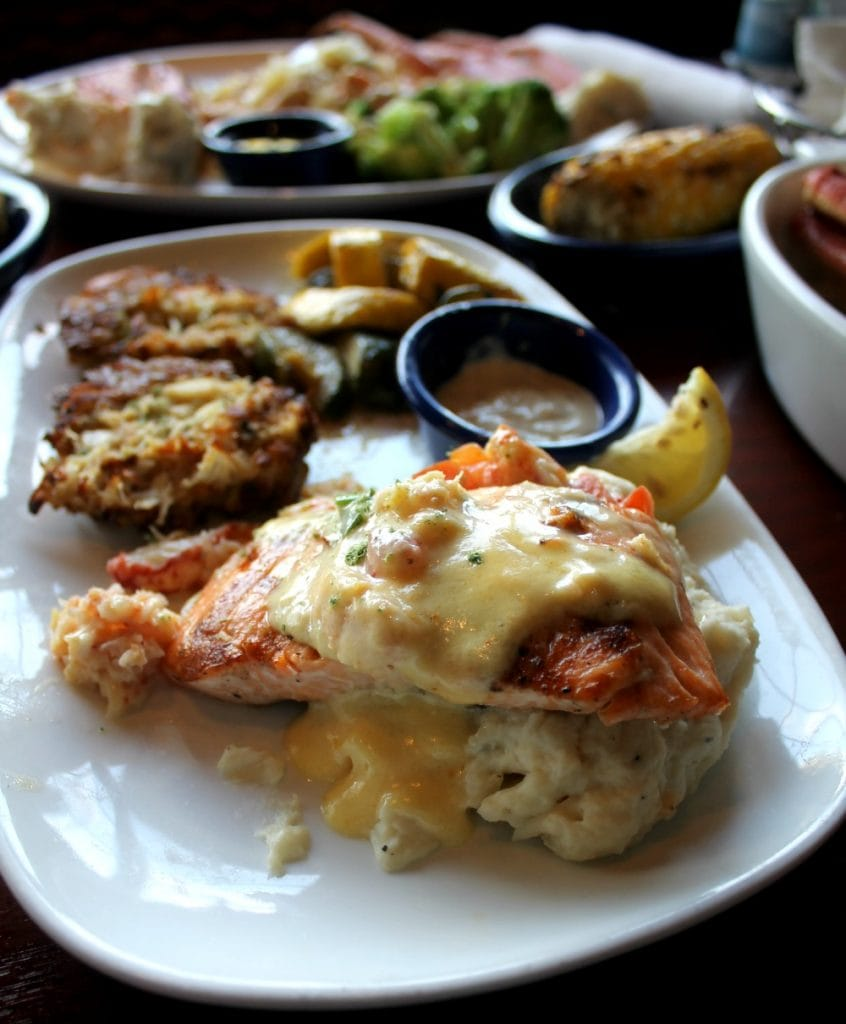 Crab Cakes and Crab Oscar Salmon - by Mama Maggie's Kitchen