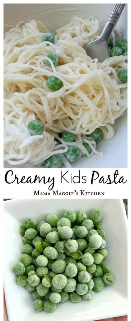 Creamy Kids Pasta - This is the perfect, easy recipe for fussy, picky eaters. So yummy and good-for-you that mom might even want her own plate. - by Mama Maggie's Kitchen