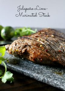 Jalapeño Lime Marinated Steak is juicy and full of delicious flavors. One bite and it will send you back to grilling on warm summer days. By Mama Maggie's Kitchen