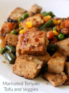 Marinated Teriyaki Tofu and Veggies