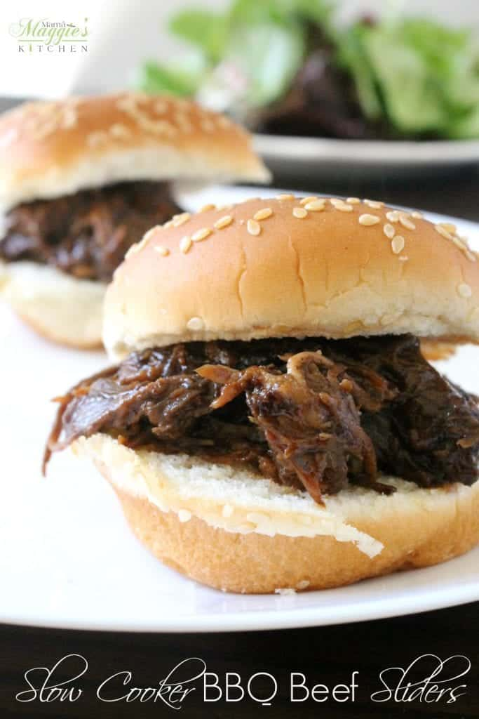 Slow Cooker BBQ Beef Sliders are miniature, itty bitty bites of ...