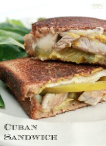 When you have leftover pork roast and deli ham in the fridge, you make a Cuban Sandwich with several pieces of cheese to make your mouth melt. Enjoy! - by Mama Maggie's Kitchen