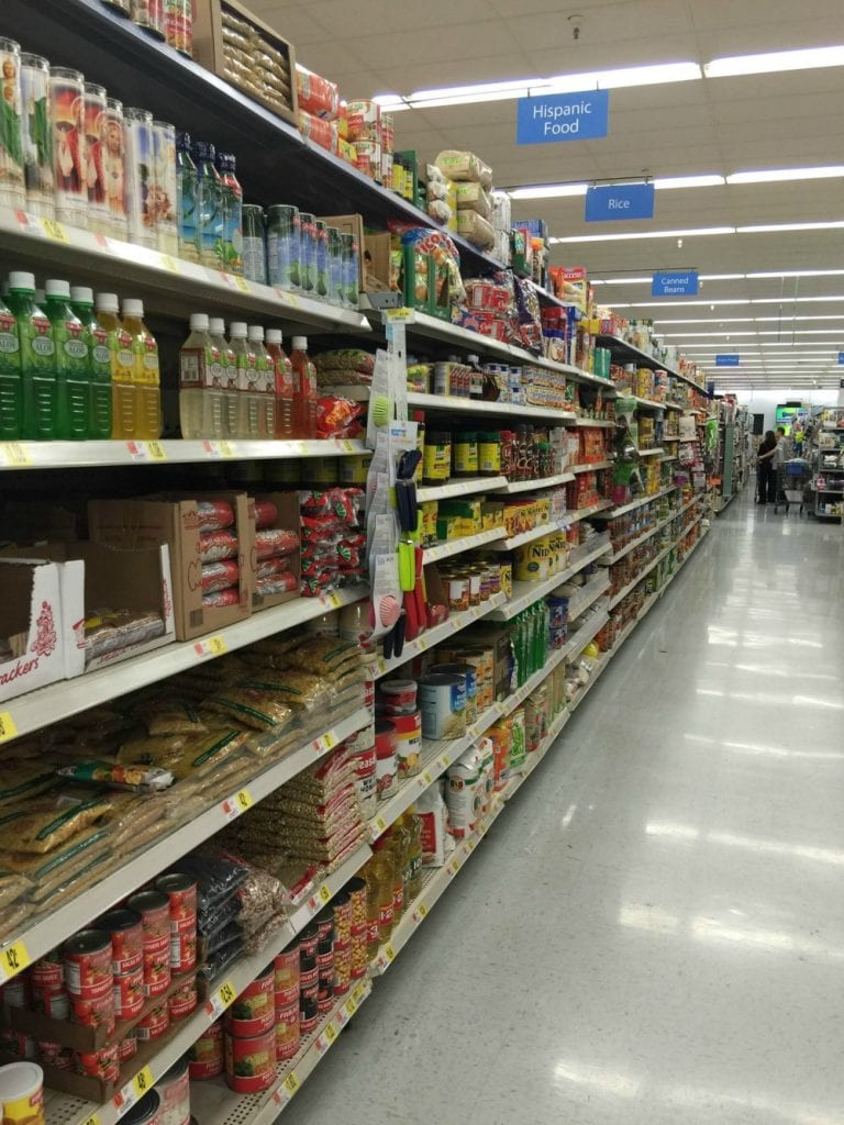 Hispanic Food Aisle at Walmart