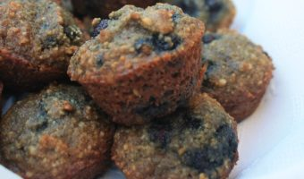 Almond Flour Blueberry Muffins - low carb, low fat, low calorie and absolutely 100% delicious - by Mama Maggie's Kitchen