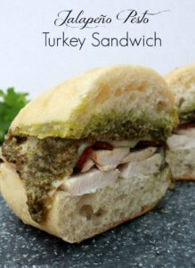 Thanksgiving Leftovers Recipe: Jalapeño Pesto Turkey Sandwich