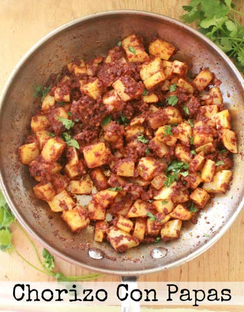Chorizo con Papas, or Mexican Chorizo with Potatoes