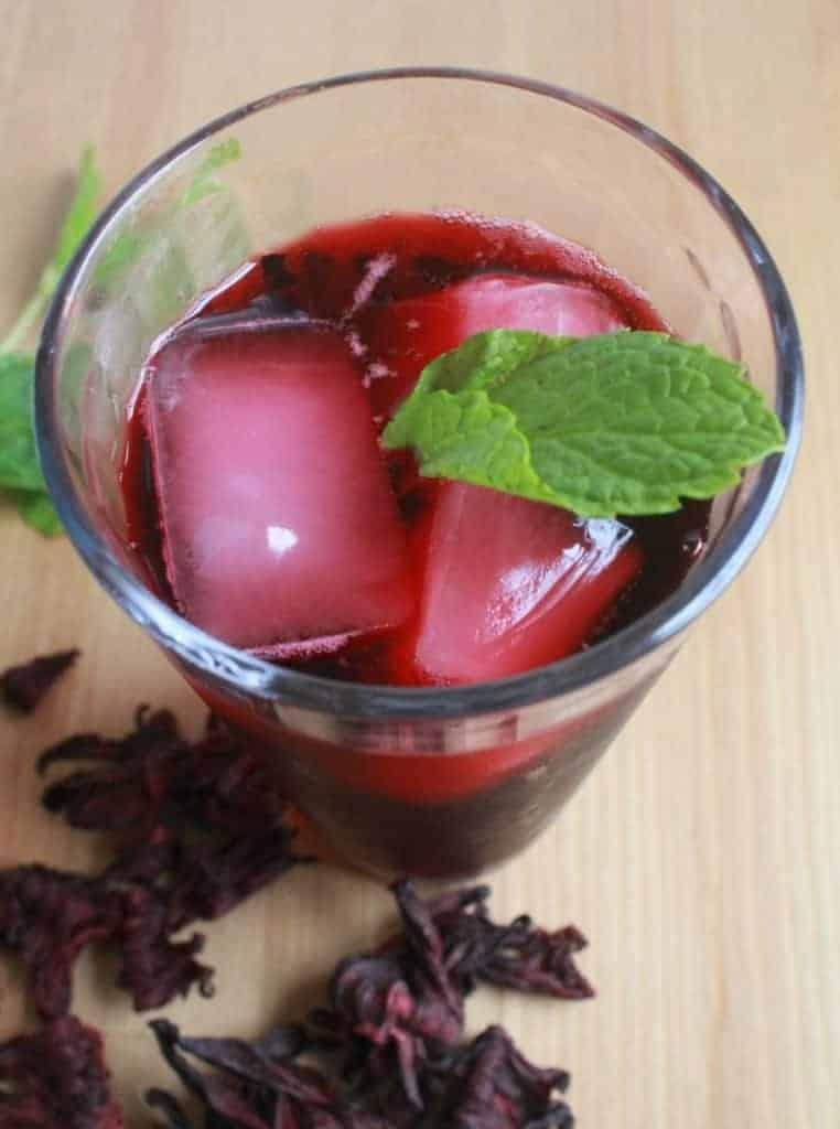 Agua de Jamaica, or Hibiscus Tea