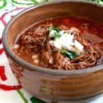 Birria de Res, or Mexican Beef Stew, is a traditional Mexican dish that is hearty, delicious, and full of amazing, robust flavors. by Mama Maggie's Kitchen