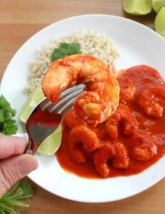 Camarones a la Diabla, or Mexican Deviled Shrimp