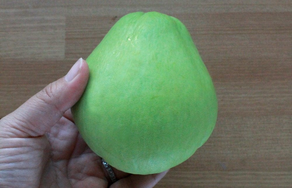 How to Chop a Chayote Squash