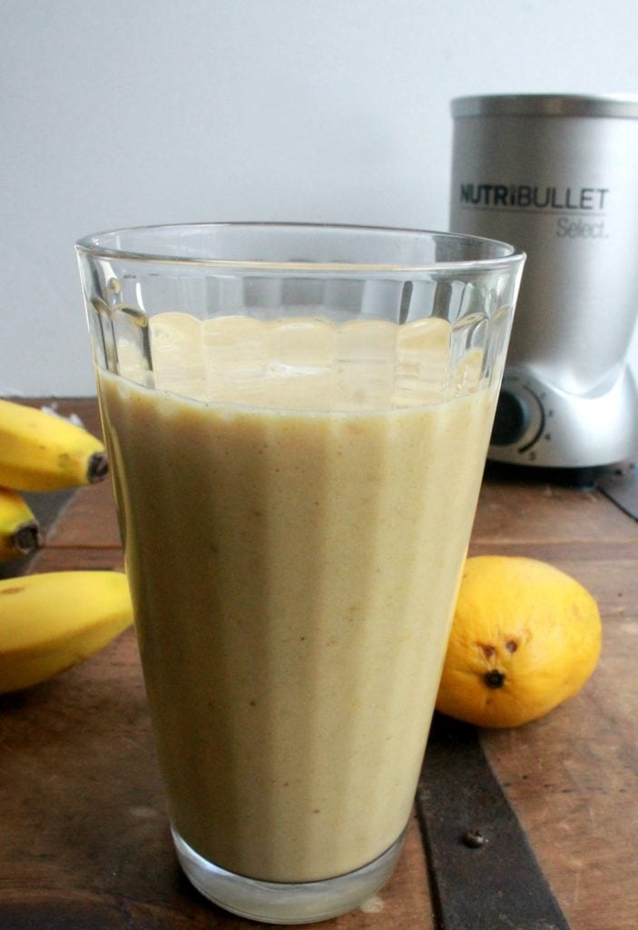Tropical Mango Smoothie is a refreshing and delicious drink. It's perfect as a yummy breakfast or mid-afternoon boost. By Mama Maggie's Kitchen