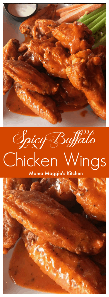 Buffalo Chicken Wings + VIDEO APRIL 11, 2017 MAGGIE UNZUETA 16 COMMENTS (EDIT) Video Player is loading.Pause Unmute Remaining Time -1:00 Fullscreen Buffalo Chicken Wings make the best appetizers. Yummy, easy-to-make, and perfect for game day or the Super Bowl. What's not to love about this American classic? By Mama Maggie's Kitchen